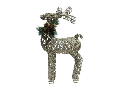 Rattan Reindeer Decoration