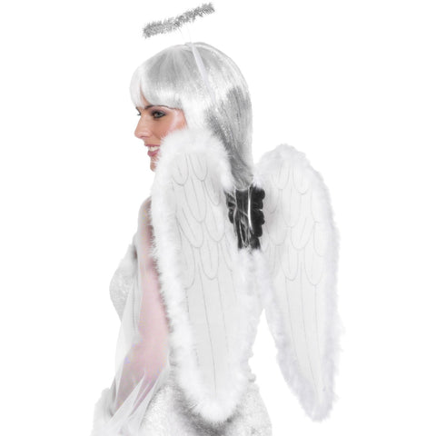 Angel Set White With Wings & Halo Marabou F