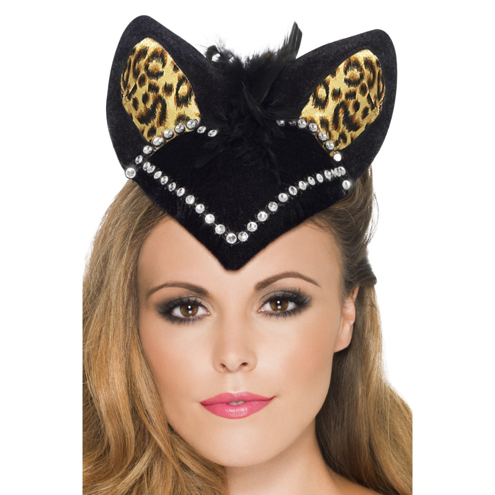 Burlesque Kitty Skull Cap Black F