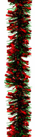 Tinsel Garland Green/Red