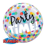 Party Time Colorful Dots Bubble Balloon 22in