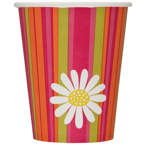 Daisy Stripe Cups