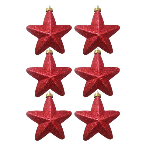 Hanging Star Glitter Red Box