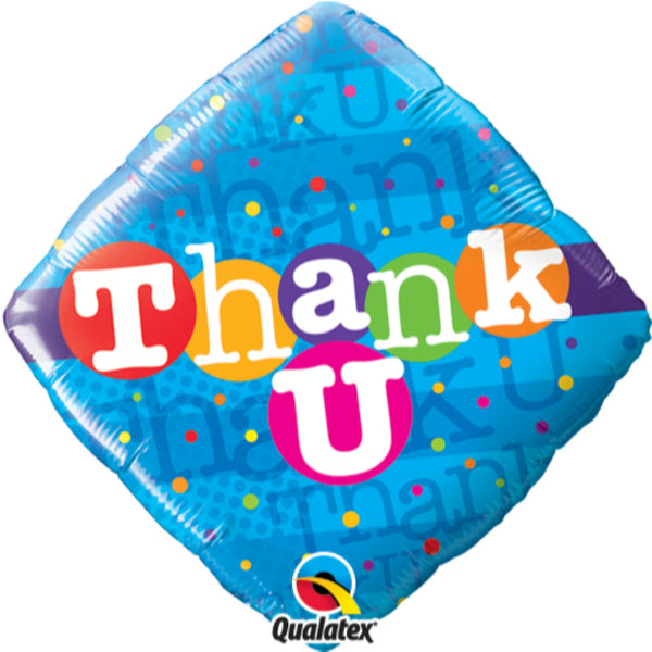 Thank You Colorful Dots Foil Balloon