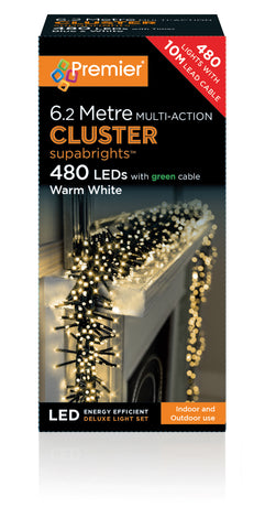 Cluster Warm White 480 LEDs