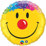 Round Smile Face Foil Balloon