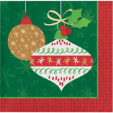 Glittering Ornaments Beverage Napkins