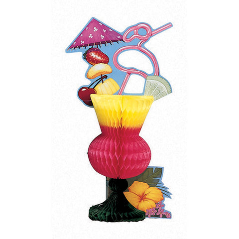 Liau Deco Centerpiece Honeycomb Tropical Drink