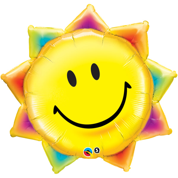 Sunshine Smile Face Foil Balloon