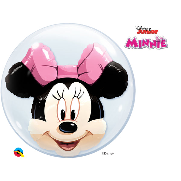 Minnie Mouse 24in Double Bubble 1Ct