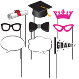 Grad Phot Props With Stick Assorted