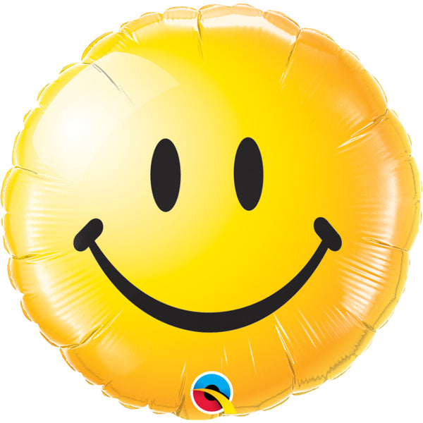 Non Message Smiley Face Yellow Foil Balloon