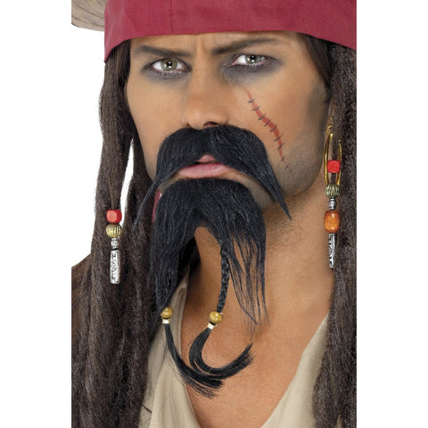 Pirate Facial Hair Set Brown