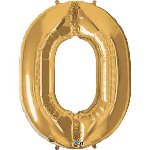 Number Zero Gold 39 inch  Number Foil Balloons