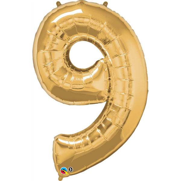 Number Ninch e Gold 42 inch  Number Foil Balloons