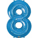 Number Eight Sapphire Blue 42 inch  Number Foil Balloons