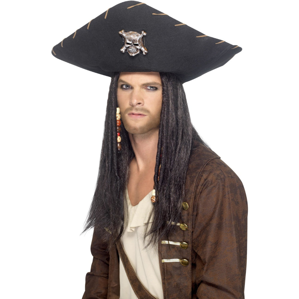 Pirate Black Male Hat