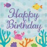 Mermaid Friends Luncheon Happy Birthday Napkins