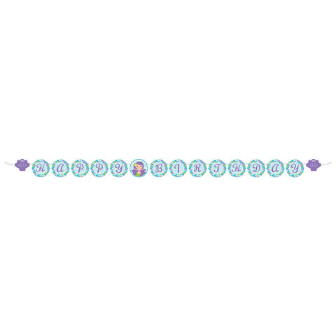 Mermaid Friends Circle Ribbon Banner Large
