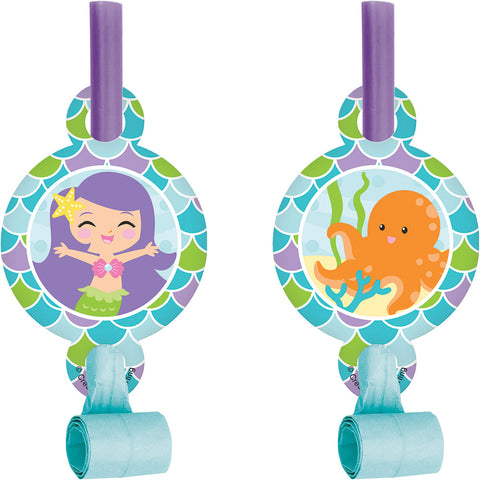 Mermaid Friends Blowouts With Medallions