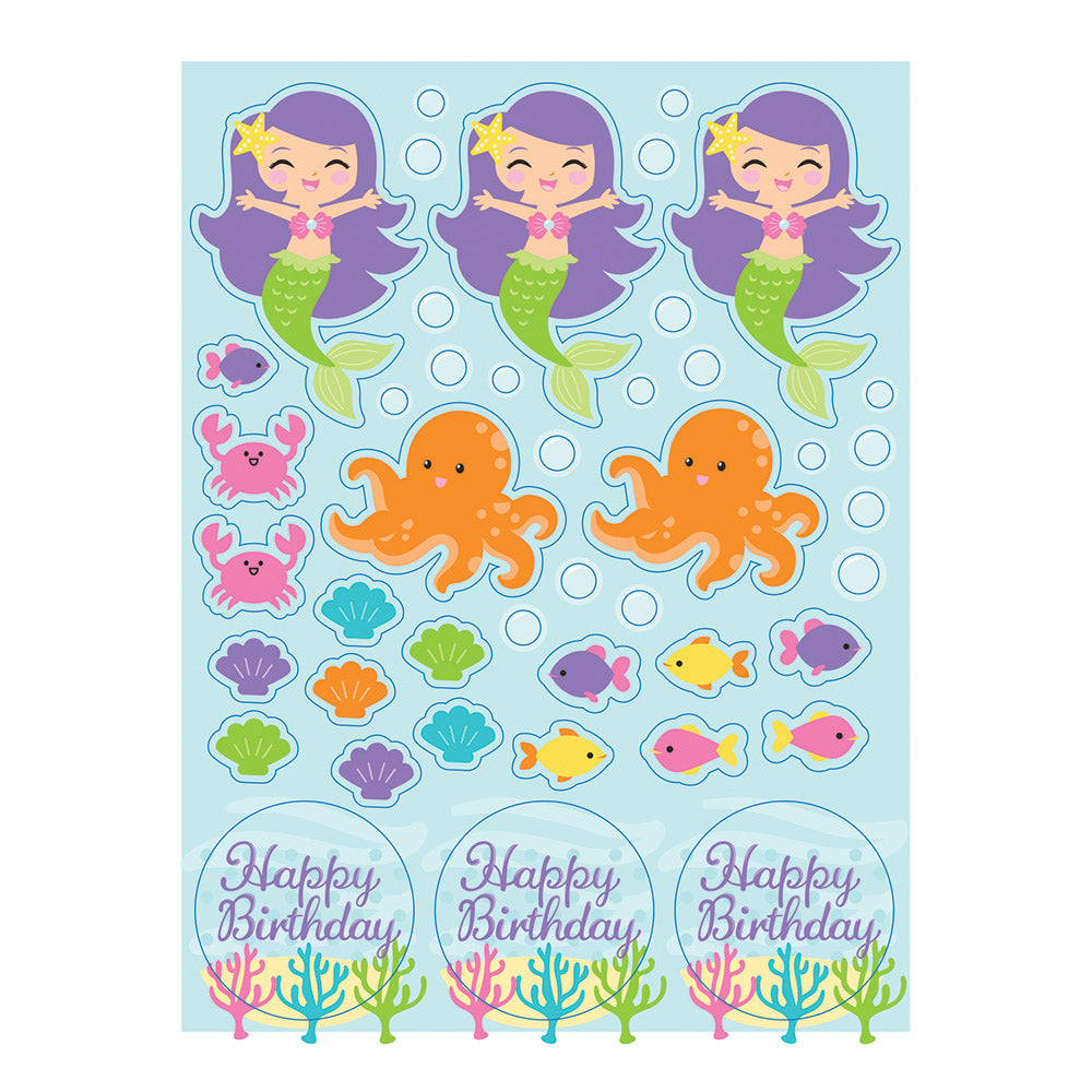 Mermaid Friends Value Stickers
