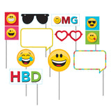 Emojions Photo Booth Props Assortment Size Plastic Stick