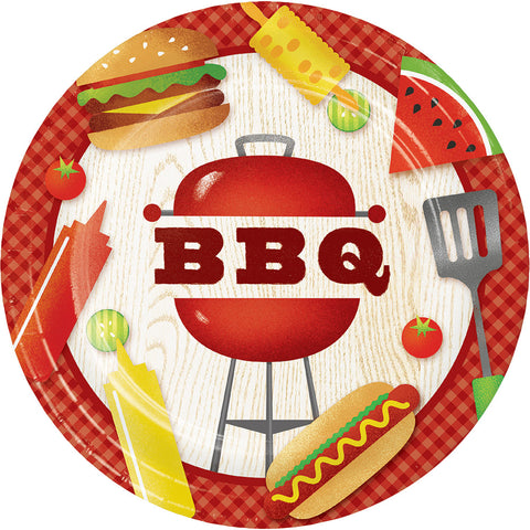 BBQ Time Dinner Plate