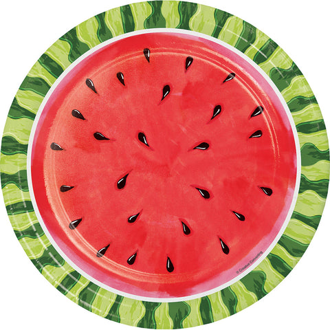Watermelon Whimsy Dinner Plate