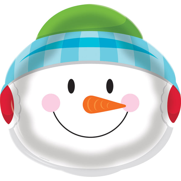 Snowman Plastic Serving Tray