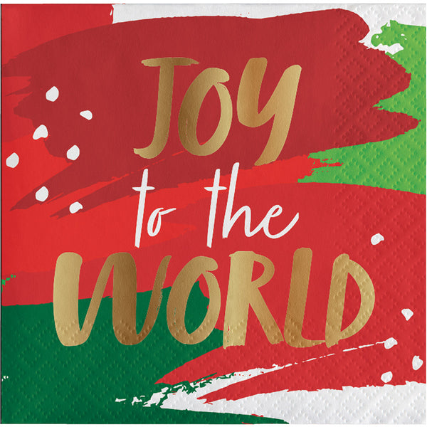 Golden Christmas Party Joy Of The World B Napkins