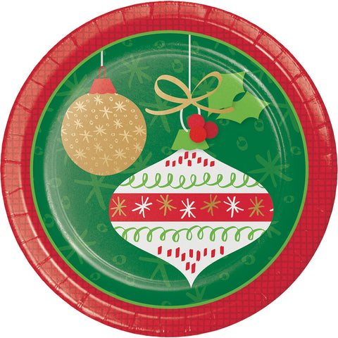Glittering Ornaments Luncheon Plates