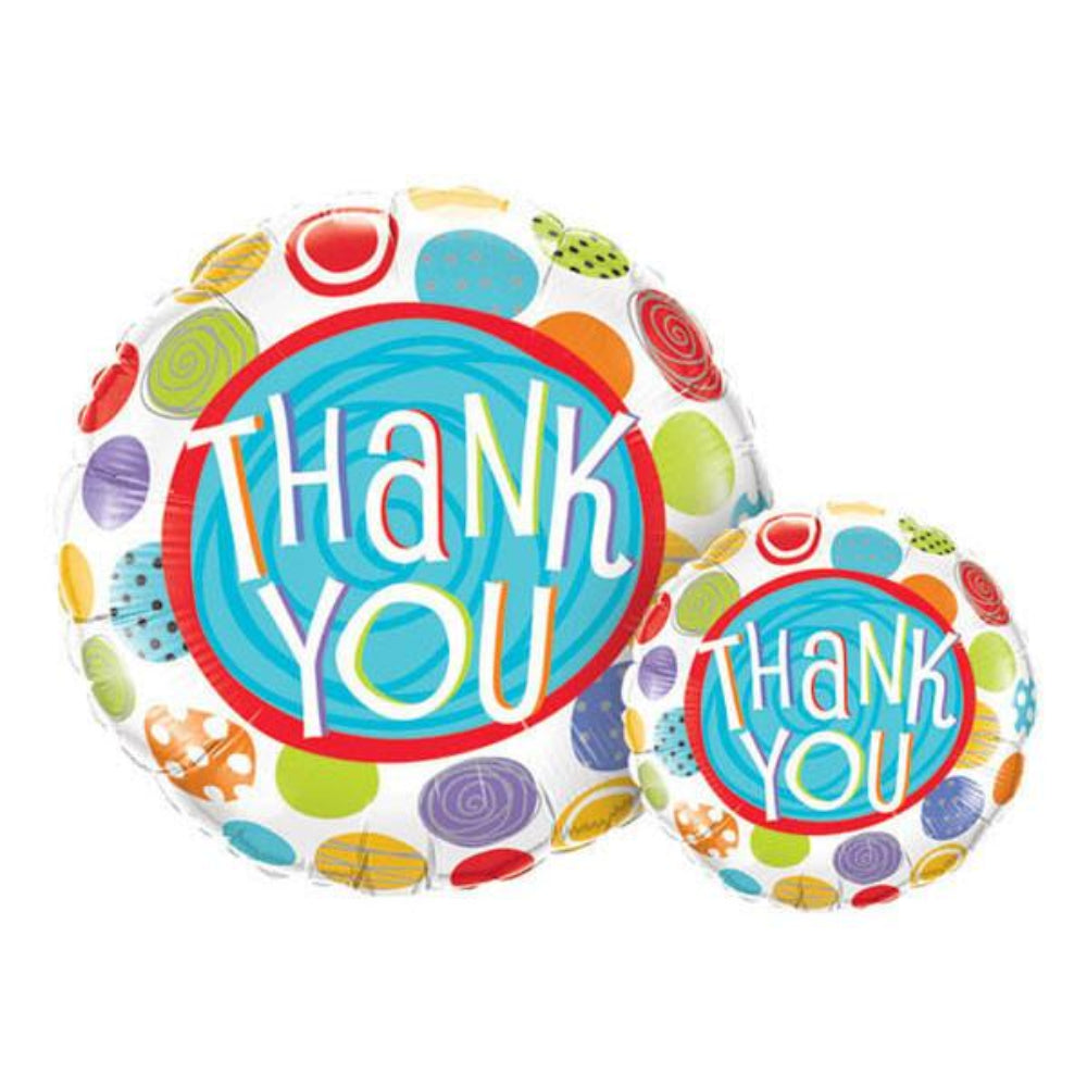 Special Occasion Thank You Patterned Dots  Foil Balloon