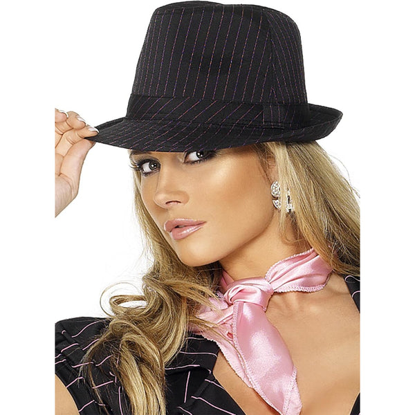 Fever Gangster Triby F Hat With Black,Pink Stripes