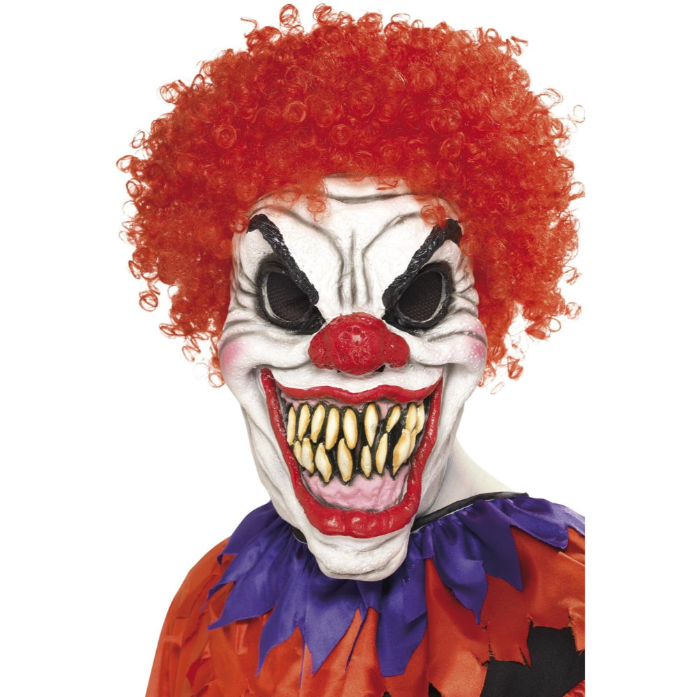 Scary Clown Mask Foam Latex With Hair