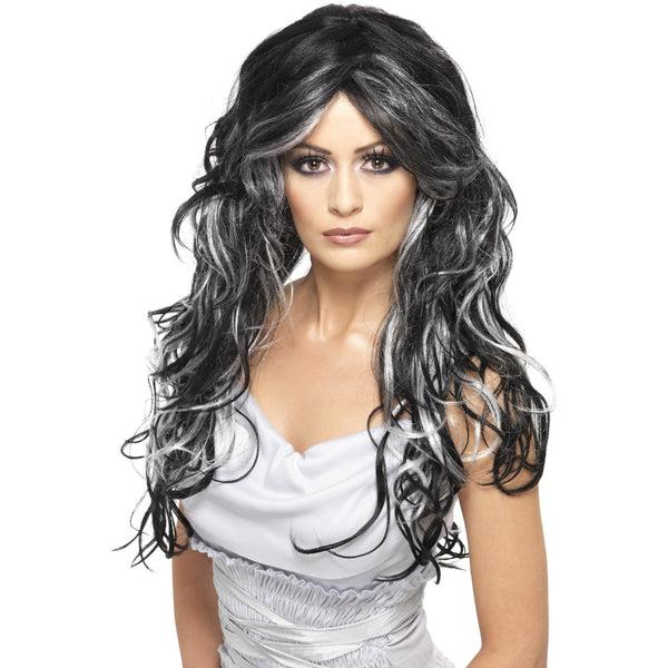 Gothic Bride F Wig Long Streaked