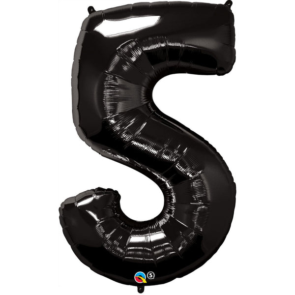 Number Five Onyx Black 44 inch  Number Foil Balloons