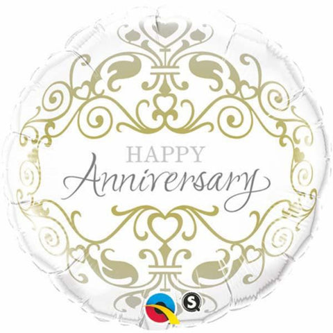 Anniversary Classic Round  Foil Balloon