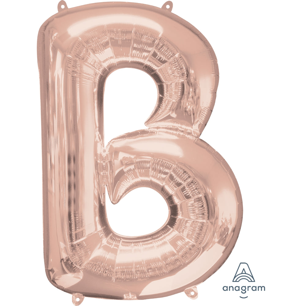 Letter B Rose Gold Foil Balloon