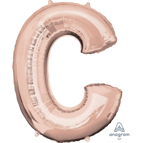 Letter C Rose Gold Foil Balloon