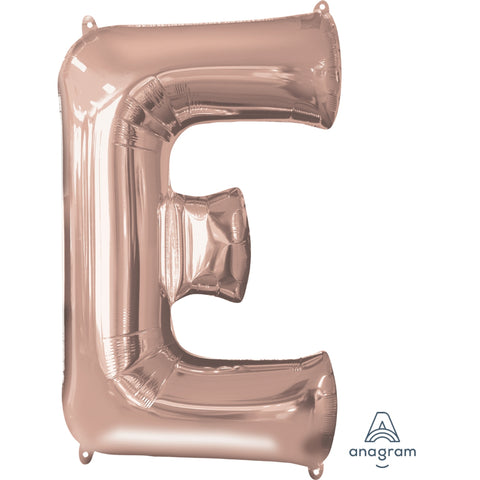 Letter E Rose Gold Foil Balloon