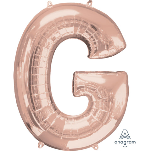 Letter G Rose Gold Foil Balloon