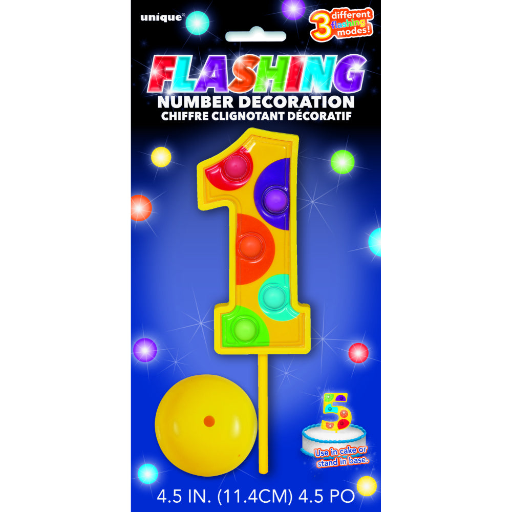 Flashing Number Decoration Number 1