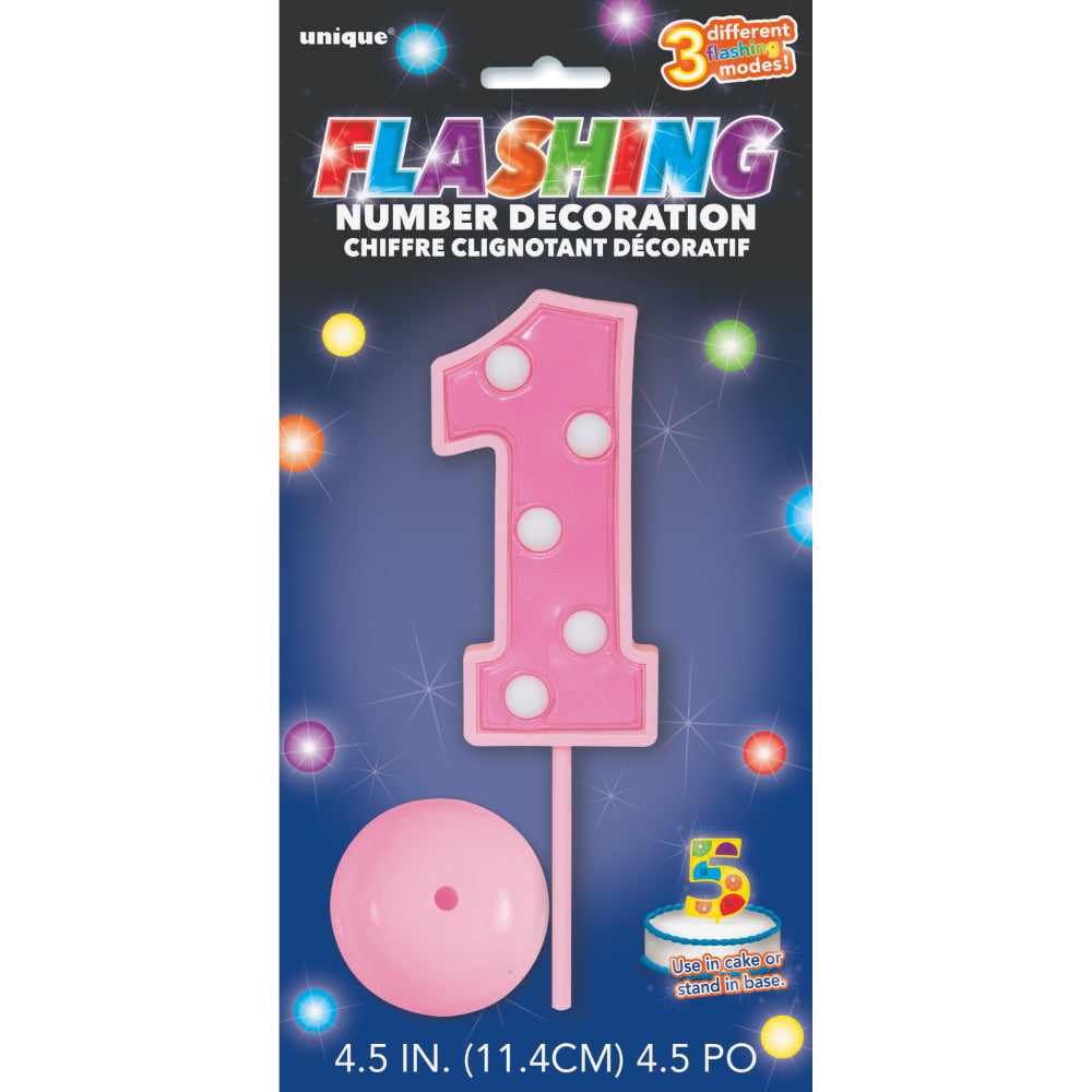 Flashing Number Decoration 1