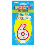 Numerical 6 Glitter Candle With Cake D̩cor
