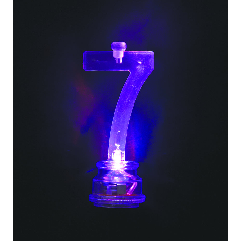 Flashing Candle Holders # 7 With 4 Birthday Candles