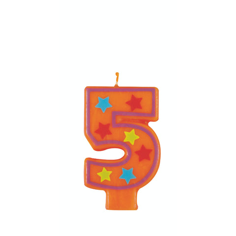 Numeral Birthday Candle 5