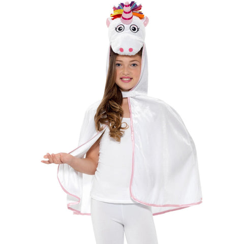 Unicorn Cape White & Pink
