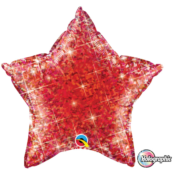 Holographic Star Jewel  Foil Balloon