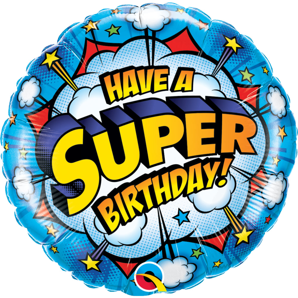 Have A Super Birthday Foil Balloon