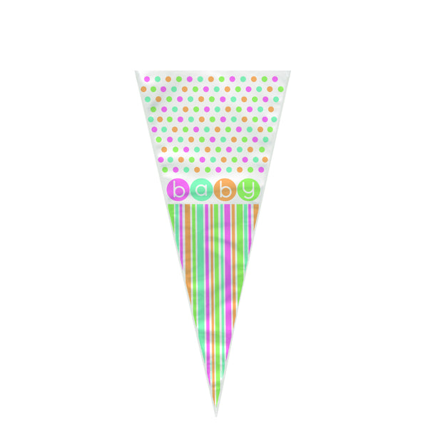Baby Shower Cone Cello Bags